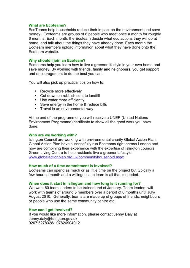 Ecoteam info